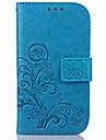 Kılıf Na Samsung Galaxy S7 Edge / S7 / S6 edge plus Portfel / Etui na karty / Z podpórką Pełne etui Kwiat Skóra PU