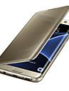 Kılıf Na Samsung Galaxy S8 Plus / S8 / S7 Edge Auto uśpienie / włączenie / Powłoka / Lustro Pełne etui Solidne kolory PC / Transparentny