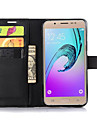 Kılıf Na Samsung Galaxy J7 / J5 / J2 Portfel / Etui na karty / Z podpórką Pełne etui Solidne kolory Skóra PU