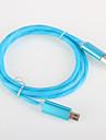 USB 2.0 Kable 1m-1.99m / 3ft-6ft Świecący Adapter kabla USB Na Samsung