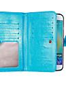 Kılıf Na Samsung Galaxy S8 Plus / S8 / S7 Edge Portfel / Etui na karty / Z podpórką Pełne etui Solidne kolory Miękka Skóra PU