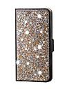 Pouzdro Uyumluluk Samsung Galaxy Samsung Galaxy Kılıf Taşlı Tam Kaplama Işıltılı Parlak PU Deri için S6 edge plus S6 edge S6 S5 S4 S3