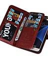 Θήκη Za Samsung Galaxy Samsung Galaxy S7 Edge Novčanik / Utor za kartice / Zaokret Korice Jednobojni PU koža za S7 edge plus / S7 edge / S7