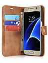 Kılıf Na Samsung Galaxy S7 Edge / S7 Etui na karty / Flip Pełne etui Solidne kolory Twardość Prawdziwa skóra