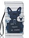 Kılıf Na Samsung Galaxy J5 (2016) / J5 Portfel / Etui na karty / Z podpórką Pełne etui Psy Twardość Skóra PU