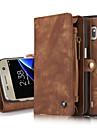 Θήκη Za Samsung Galaxy S8 Plus / S8 / S7 edge Novčanik / Utor za kartice / sa stalkom Korice Jednobojni Tvrdo prava koža