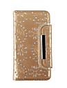 Pouzdro Uyumluluk Samsung Galaxy S8 Plus / S8 / S7 edge Cüzdan / Kart Tutucu / Taşlı Tam Kaplama Kılıf Çiçek Yumuşak Gerçek Deri