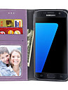 Kılıf Na Samsung Galaxy S7 Edge / S7 / S6 edge Portfel / Etui na karty / Flip Pełne etui Solidne kolory Twardość Skóra PU
