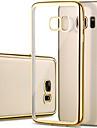Kılıf Na Samsung Galaxy S7 Edge / S7 / S6 edge Powłoka / Transparentny Osłona tylna Solidne kolory TPU