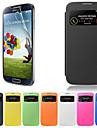 Kılıf Na Samsung Galaxy Samsung Galaxy Etui Z okienkiem Flip Pełne etui Solid Color Skóra PU na S4