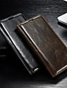 Kılıf Na Samsung Galaxy S5 / S4 Portfel / Etui na karty / Z podpórką Pełne etui Solidne kolory Skóra PU