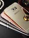 Kılıf Na Samsung Galaxy Samsung Galaxy Etui Galwanizowane Lustro Czarne etui Solid Color Twarde PC na S8 Plus S8 S7 edge S7 S6 edge plus