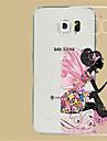 Na Samsung Galaxy Etui Etui Pokrowce Przezroczyste Wytłaczany wzór Etui na tył Kılıf Seksowna dziewczyna Poliuretan termoplastyczny na