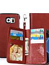 Kılıf Na Samsung Galaxy S8 Plus / S8 / S6 edge plus Portfel / Etui na karty / Z podpórką Pełne etui Solidne kolory Twardość Skóra PU