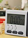 1szt liczyć czarny kwadrat magnetyczne Duży wyświetlacz LCD cyfrowy minutnik up down Budzik 24 godziny z podstawką