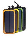 solar power bank wodoodporna 16000mah ładowarka solarna dual usb ports zewnętrzna ładowarka powerbank na smartfona z oświetleniem led
