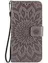 Kılıf Na Samsung Galaxy Note 5 / Note 4 / Note 3 Portfel / Etui na karty / Z podpórką Pełne etui Kwiat Twardość Skóra PU