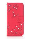 Kılıf Na Samsung Galaxy J5 (2016) / J3 (2016) / Grand Prime Portfel / Etui na karty / Kryształ górski Pełne etui Motyl Twardość Skóra PU