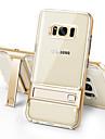 Kılıf Na Samsung Galaxy S8 Plus / S8 / S7 Odporny na wstrząsy / Z podpórką / Transparentny Osłona tylna Solidne kolory Twardość TPU