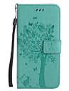 Kılıf Na Jabłko iPhone X / iPhone 8 Plus / iPhone 8 Portfel / Etui na karty / Z podpórką Pełne etui Kot / Drzewo Twardość Skóra PU
