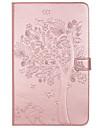 Kılıf Na Samsung Galaxy / Tab 8,0 / Tab 9.7 Tab E 9.6 / Tab A 7.0 / Tab A 10.1 (2016) Portfel / Etui na karty / Z podpórką Pełne etui Kot / Motyl / Drzewo Twardość Skóra PU