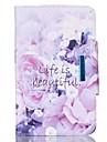 Kılıf Na Samsung Galaxy / Tab 9.7 Portfel / Etui na karty / Z podpórką Pełne etui Kwiat Twardość Skóra PU na Tab 4 10.1 / Tab 4 8.0 / Tab 4 7.0