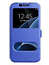 Kılıf Na Samsung Galaxy S8 Plus / S8 / S7 Edge Z okienkiem Pełne etui Solidne kolory Twardość Skóra PU