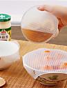4szt. Wielofunkcyjne jedzenie świeże utrzymanie saran wrap narzędzia kuchenne wielokrotnego użytku silikonowe opakowania do żywności uszczelka próżni pokrywy pokrywy