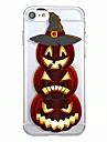 Kılıf Na iPhone 7 / iPhone 7 Plus / iPhone 6s Plus iPhone SE / 5s Transparentny / Wzór Osłona tylna Wzór geometryczny / Kreskówki / Halloween Miękka TPU
