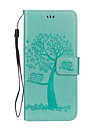 Kılıf Na Samsung Galaxy S8 Plus / S8 / S7 Edge Portfel / Etui na karty / Z podpórką Pełne etui Sowa / Drzewo Twardość Skóra PU