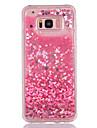 Kılıf Na Samsung Galaxy S8 Plus / S8 / S7 Edge Z płynem / Transparentny / Wzór Osłona tylna Serce / Połysk Miękka TPU