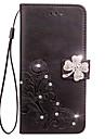 Kılıf Na Samsung Galaxy S6 edge / S6 / S5 Portfel / Etui na karty / Kryształ górski Pełne etui Kwiat Twardość Skóra PU