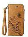 Kılıf Na Samsung Galaxy S8 Plus / S8 / S7 Edge Etui na karty / Flip / Wytłaczany wzór Pełne etui Kwiat Twardość Skóra PU