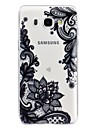 hoesje Voor Samsung Galaxy J7 (2016) / J5 (2017) / J5 (2016) Transparant / Reliefopdruk / Patroon Achterkant Lace Printing Zacht TPU