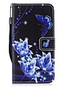 Kılıf Na Samsung Galaxy J3 (2017) Portfel / Etui na karty / Z podpórką Pełne etui Motyl Twardość Skóra PU