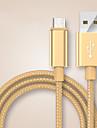 USB 2.0 / Type-c Kable <1m / 3ft Pleciony Nylon Adapter kabla USB Na Samsung / Huawei / LG