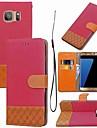 Kılıf Na Samsung Galaxy S8 Plus / S8 / S7 Edge Portfel / Etui na karty / Z podpórką Pełne etui Wzór geometryczny Twardość Tekstylny