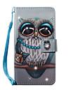 Kılıf Na Samsung Galaxy S7 Edge / S7 / S6 edge Portfel / Etui na karty / Kryształ górski Pełne etui Sowa Twardość Skóra PU