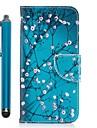 Capinha Para Samsung Galaxy A3 (2017) / A5 (2017) / A7 (2017) Carteira / Porta-Cartao / Com Suporte Capa Protecao Completa Arvore / Flor Rigida PU Leather