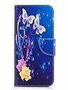 Kılıf Na Samsung Galaxy S9 / S9 Plus / S8 Plus Portfel / Etui na karty / Z podpórką Pełne etui Motyl Twardość Skóra PU