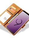 Kılıf Na Samsung Galaxy S9 / S9 Plus / S8 Plus Portfel / Etui na karty / Odporny na wstrząsy Pełne etui Solidne kolory Twardość Prawdziwa skóra