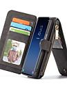 Kılıf Na Samsung Galaxy S9 Portfel / Etui na karty / Z podpórką Pełne etui Jednokolorowe Twardość Prawdziwa skóra