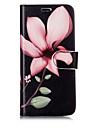 Kılıf Na Samsung Galaxy S8 Plus / S8 / S7 Edge Portfel / Etui na karty / Z podpórką Pełne etui Kwiat Twardość Skóra PU