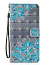 Kılıf Na Samsung Galaxy S9 / S9 Plus / S8 Plus Portfel / Etui na karty / Z podpórką Pełne etui Koronka Printing / Kwiat Twardość Skóra PU