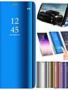 Kılıf Na Samsung Galaxy A5 (2018) / Galaxy A7(2018) / A3(2017) Odporny na wstrząsy / Lustro / Flip Pełne etui Solidne kolory Twardość Skóra PU