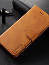 Kılıf Na Samsung Galaxy S9 / S9 Plus / S8 Plus Portfel / Etui na karty / Flip Pełne etui Solidne kolory Twardość Prawdziwa skóra