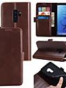 Kılıf Na Samsung Galaxy S9 / S9 Plus / S8 Plus Etui na karty / Flip / Magnetyczne Pełne etui Solidne kolory Twardość Prawdziwa skóra