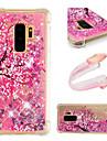 Kılıf Na Samsung Galaxy S9 / S9 Plus / S8 Plus Odporny na wstrząsy / Z płynem / Wzór Osłona tylna Połysk / Kwiat Miękka TPU