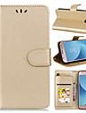 Kılıf Na Samsung Galaxy J7 (2017) / J5 (2017) / J3 (2017) Portfel / Etui na karty / Z podpórką Pełne etui Solidne kolory Twardość Skóra PU