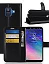 Kılıf Na Samsung Galaxy A6 (2018) / A6+ (2018) / A8 2018 Portfel / Etui na karty / Flip Pełne etui Solidne kolory Twardość Skóra PU